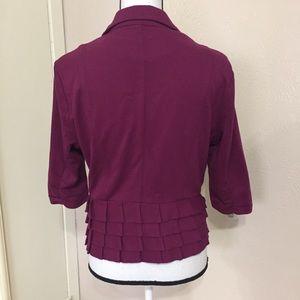 Elle Jackets & Coats - Elle Purple Ruffle Blazer